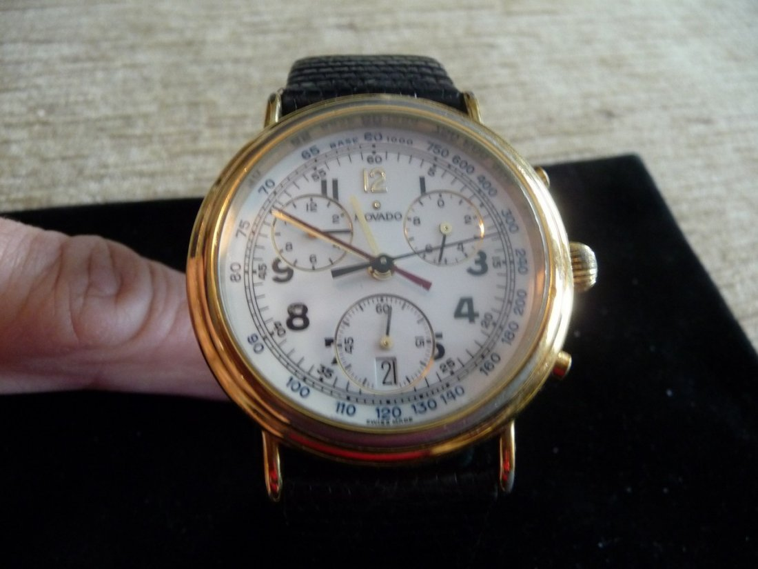 MAN MOVADO CHRONOGRAPH 14K STAINLESS STEEL WATCH