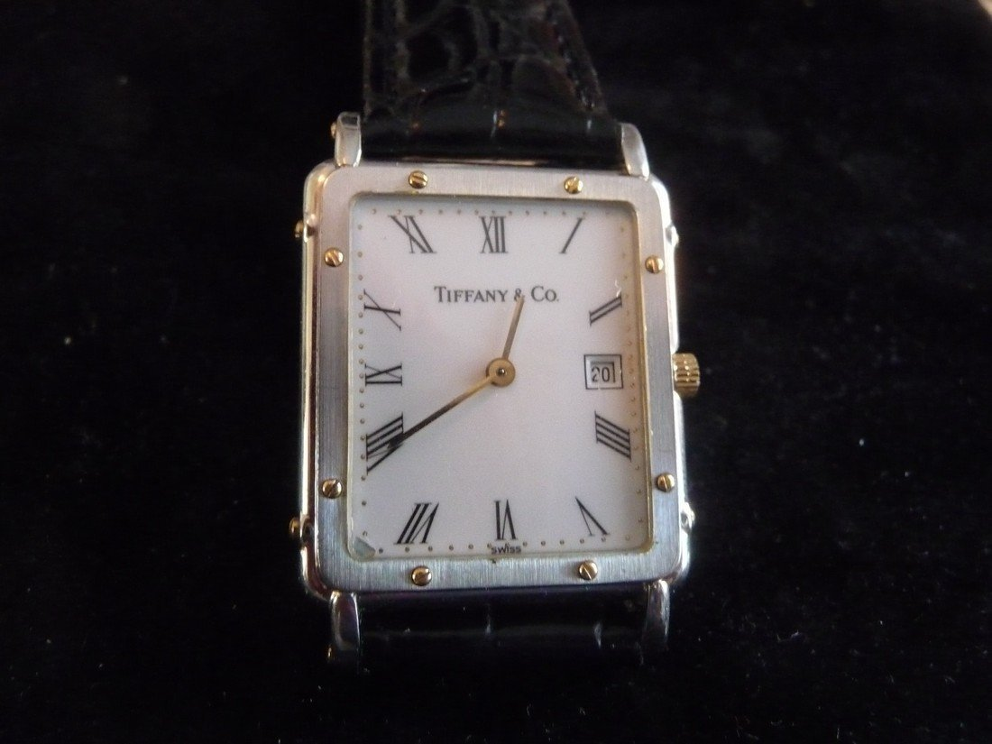 MAN TIFFANY & CO 18K/ STEEL WATCH