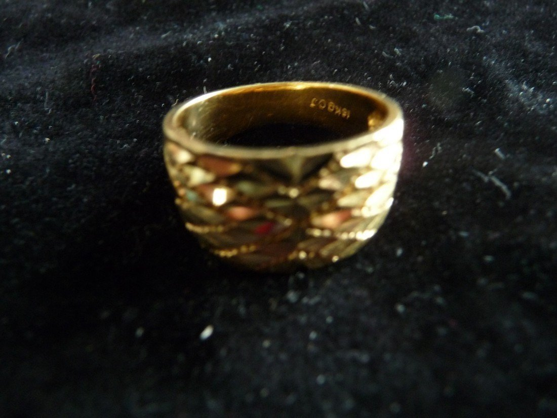 18K YELLOW GOLD NUGGET RING--NEW
