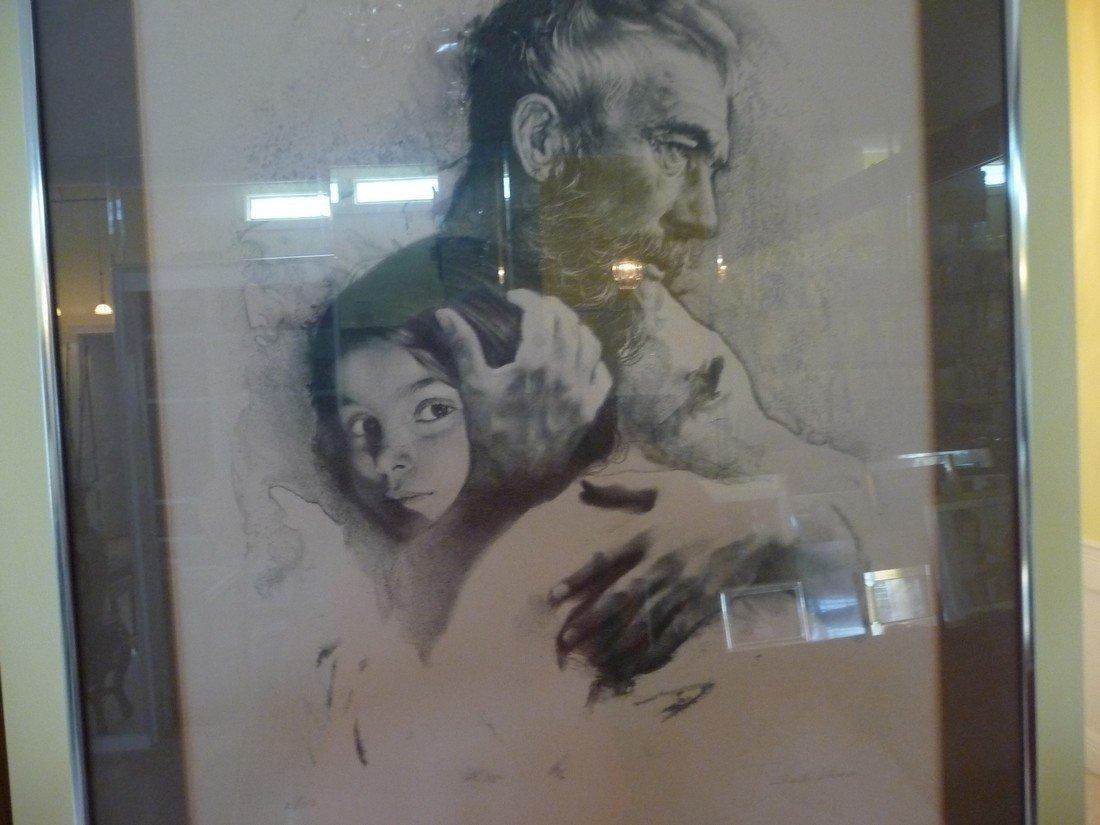 "SANDU LIBERMAN LIMITED EDITION ""FATHER & DAUGHTER""LITHO"