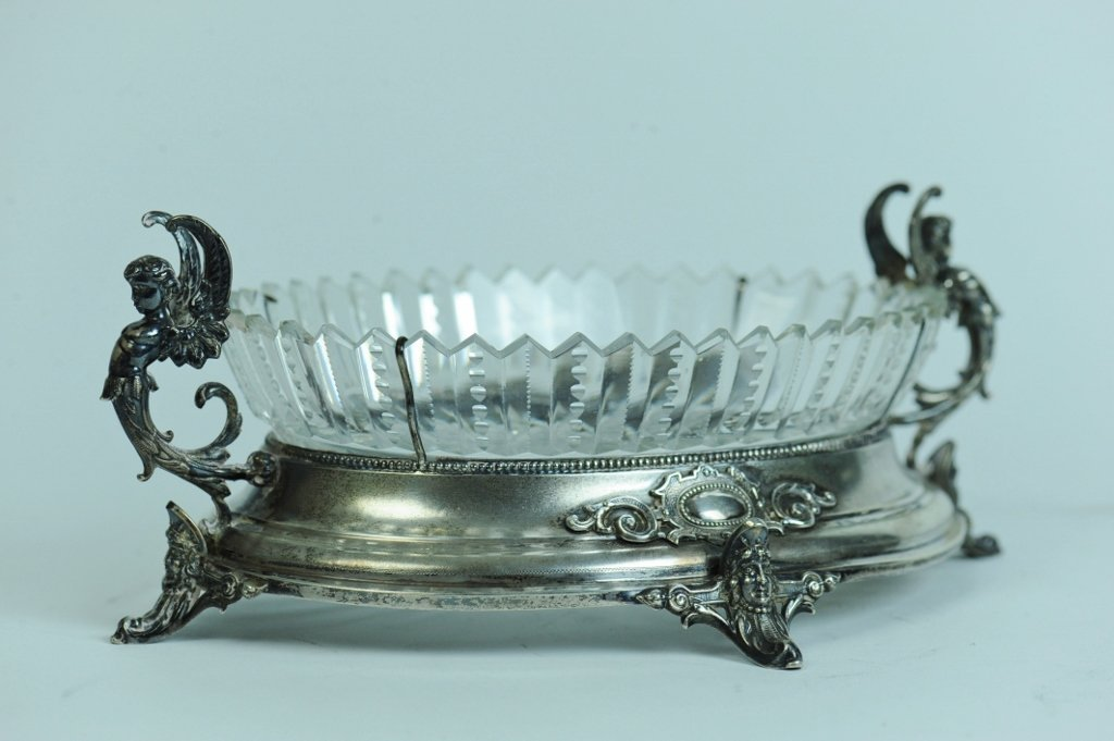 CONTINENTAL SILVER AND CRYSTAL BOWL