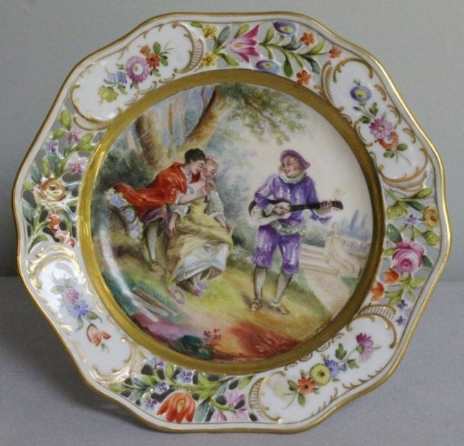 DRESDEN RETICULATED TAZZA