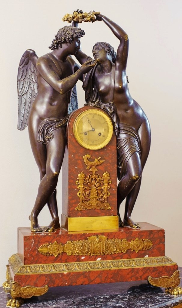 A VERY LARGE 19TH CENTURY EMPIRE STYLE  CLOCK