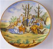 LARGE 19TH CENTURY MAJOLICA CHARGER