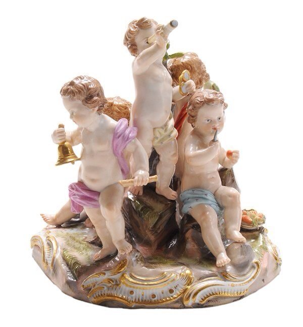 19TH CENTURY MEISSEN GROUP OF 5 SENSES