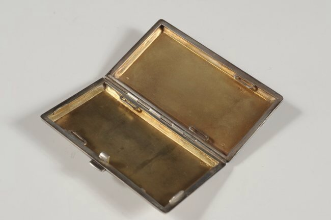 FRENCH GUILLOCHE ENAMEL ON STERLING CARD CASE - 3