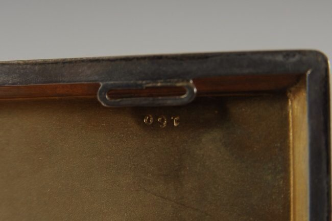 FRENCH GUILLOCHE ENAMEL ON STERLING CARD CASE - 4