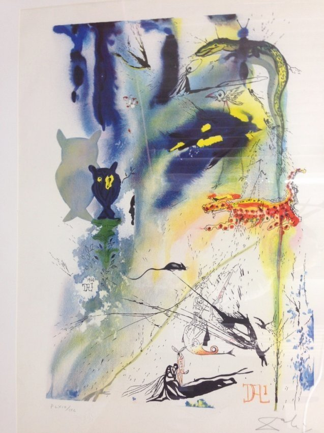 LARGE SALVADOR DALI LITHOGRAPH