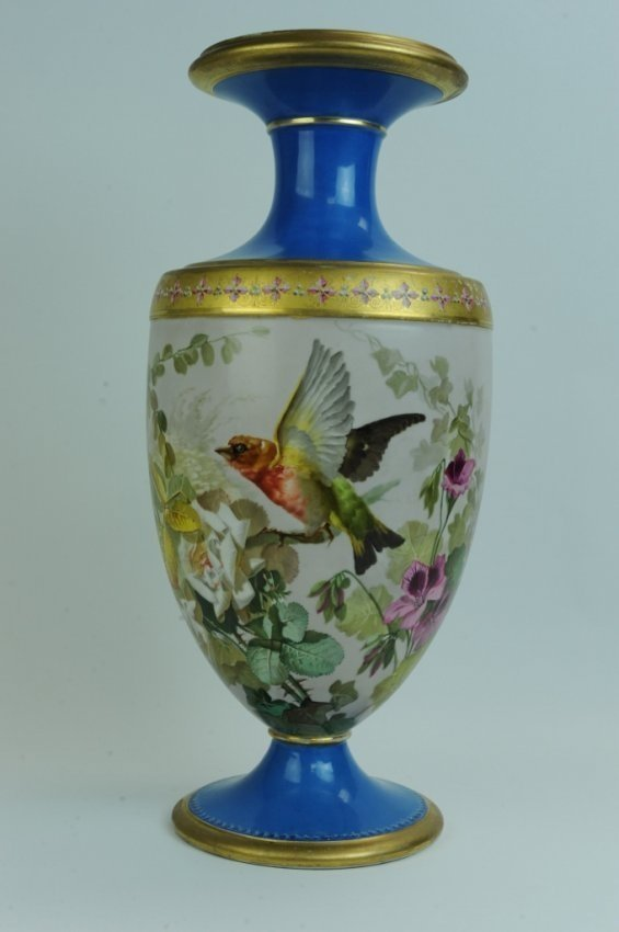 A LARGE 19TH CENTURY PARIS PORCELAIN VASE