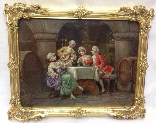 FINE EUROPEAN OIL PAINTING SIGNED STEPHAN SEDLACK