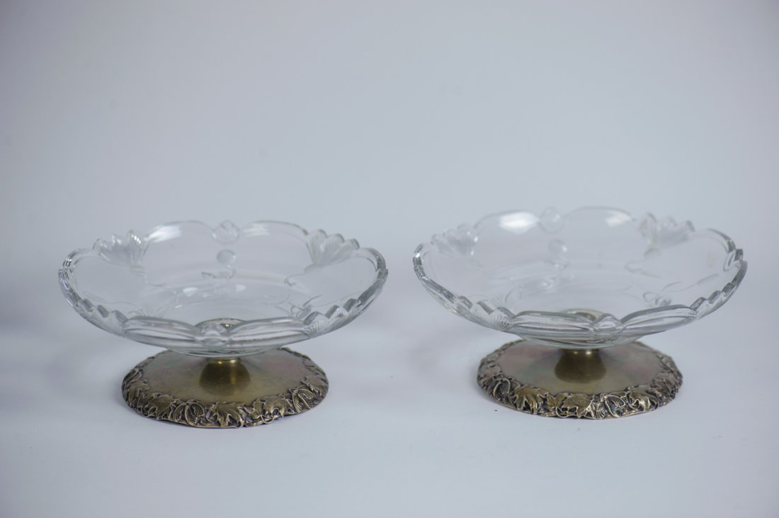 PAIR OF AMERICAN STERLING SILVER TAZZAS