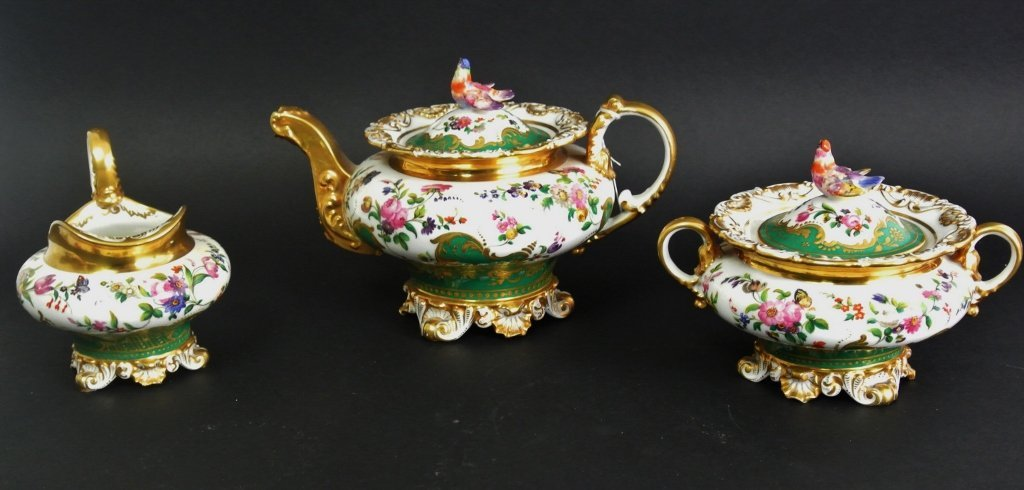 A JACOB PETIT 3 PIECE TEA SET