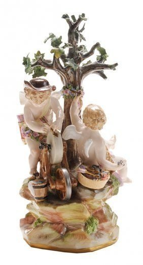 19TH CENTURY MEISSEN GROUP