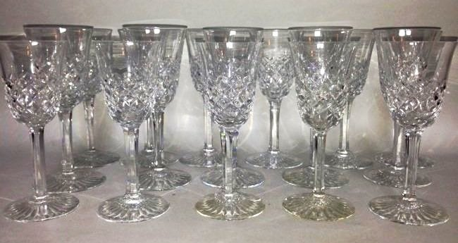 16 SIGNED BACCARAT GLASSES