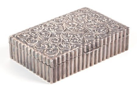 CHINESE EXPORT STERLING SILVER BOX