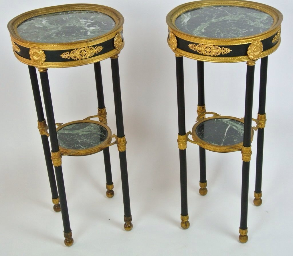 PAIR OF EMPIRE STYLE OCCASIONAL TABLES