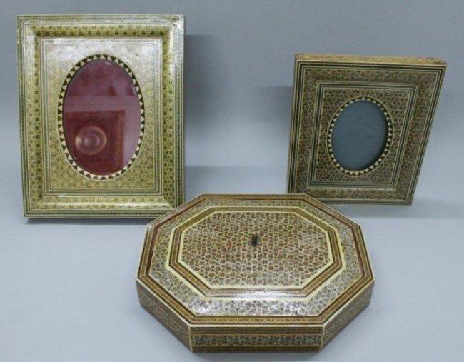 SET OF PERSIAN INALID FRAMES AND BOX