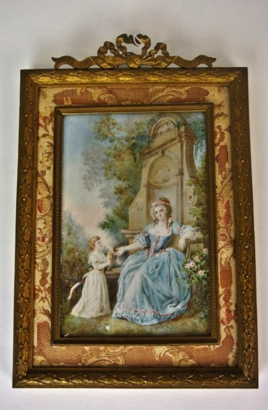 19TH CENTURY PAINTING ON IVORY