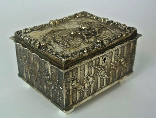 ITALIAN STERLING SILVER BOX