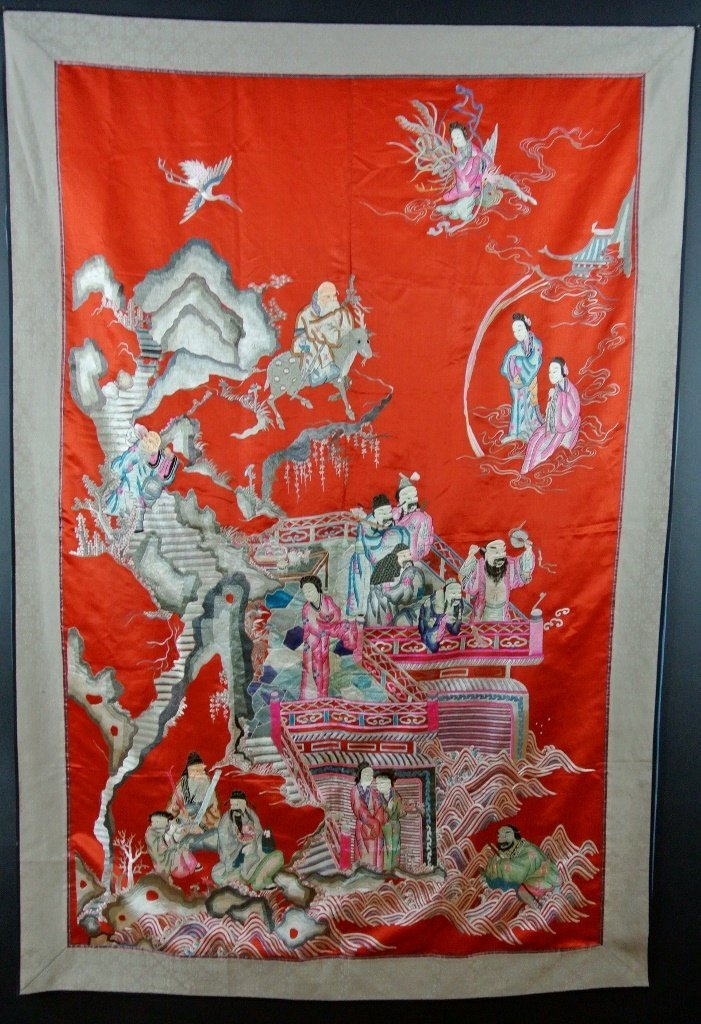 19TH CENTURY CHINESE SILK EMBROIDERY