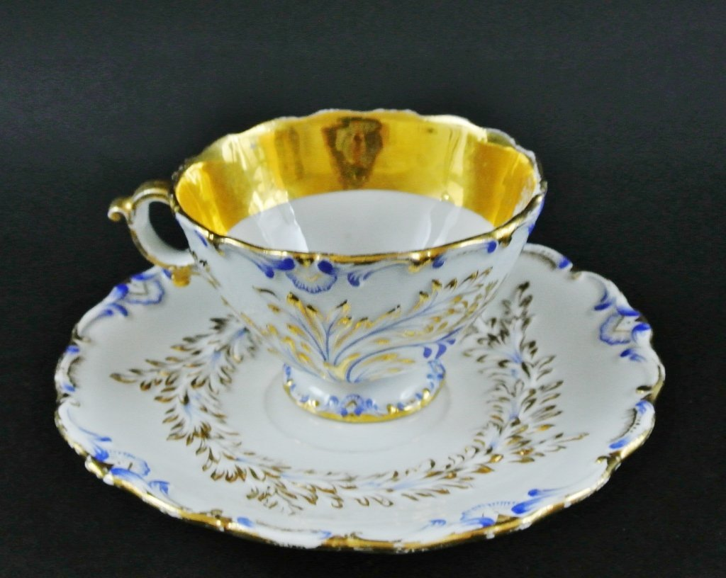 MEISSEN CUP AND SAUCER AND