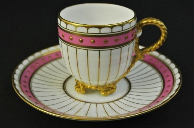 19TH CENTURY PORCELAIN CUP AND SAUCER