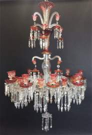 A MONUMENTAL 19TH CENTURY BACCARAT 18 LIGHT CHANDELIER