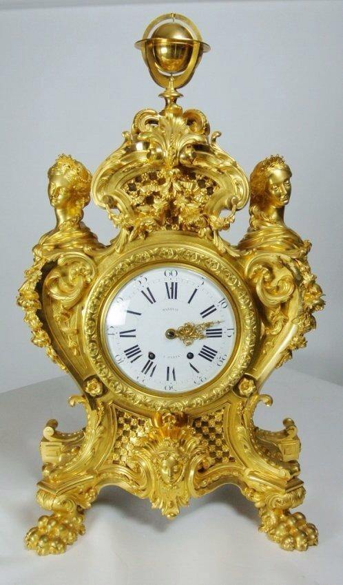 A 19TH CENTURY EXHIBITION ORMOLU CLOCK BY MARQUIS