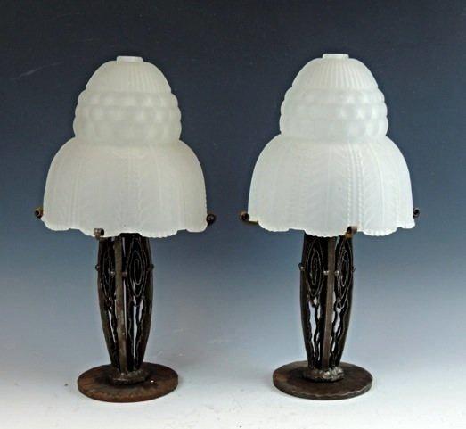 PAIR OF ART DECO LAMPS