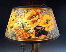 SIGNED REVERSE PAINTED PAIRPOINT LAMP