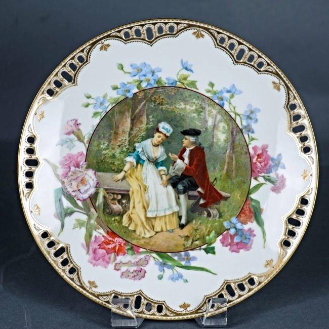 TIFFANY 19TH CENTURY ENGLISH PORCELAIN PLATE