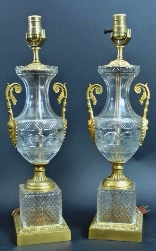 19TH CENTURY EMPIRE STYLE LAMPS