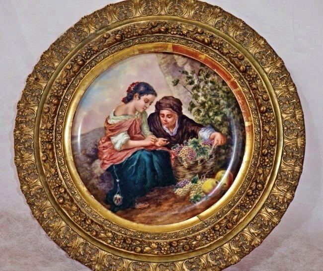19TH CENTURY ROYAL VIENNA AND GILT WOOD TABLE