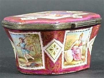 19TH CENTURY VIENNESE ENAMEL SILVER BOX