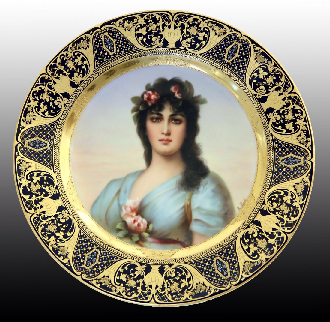A MAGNIFICENT ROYAL VIENNA PLATE
