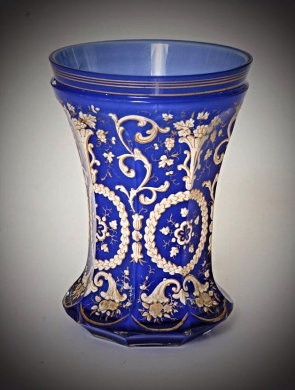 A 19TH CENTURY BOHEMIAN GLASS BEAKER