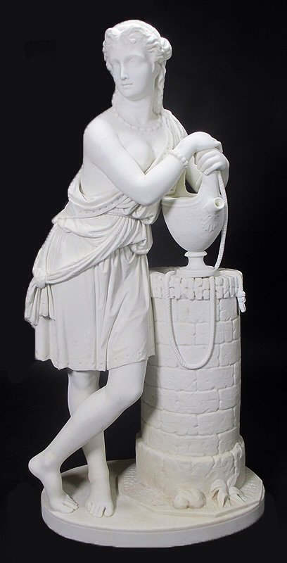 19TH CENTURY WHITE MARBLE SCULPTURE BY EDMONIA LEWIS