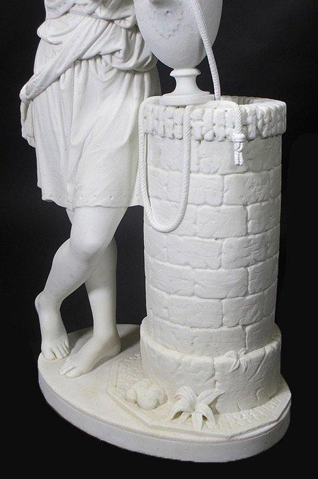 19TH CENTURY WHITE MARBLE SCULPTURE BY EDMONIA LEWIS - 2