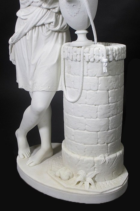 19TH CENTURY WHITE MARBLE SCULPTURE BY EDMONIA LEWIS - 2
