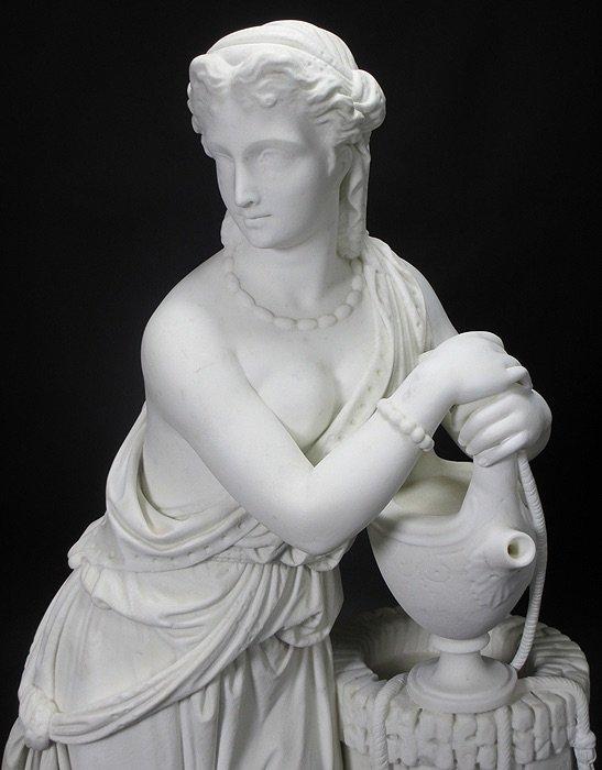 19TH CENTURY WHITE MARBLE SCULPTURE BY EDMONIA LEWIS - 3