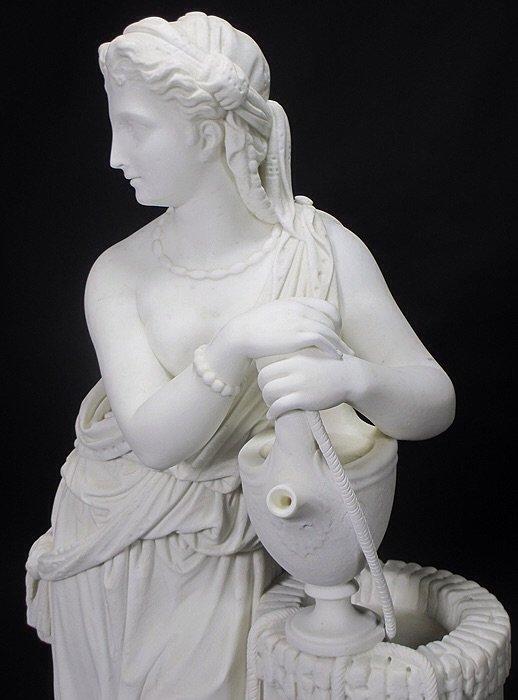 19TH CENTURY WHITE MARBLE SCULPTURE BY EDMONIA LEWIS - 4