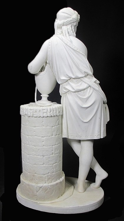 19TH CENTURY WHITE MARBLE SCULPTURE BY EDMONIA LEWIS - 6