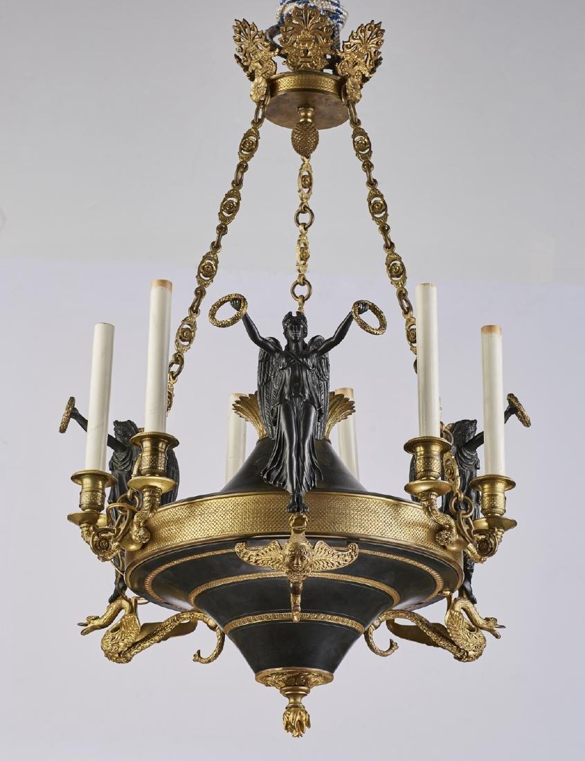 Neoclassical lighting Study Houzz French Empire Bronze Six Light Neoclassical Chandelier