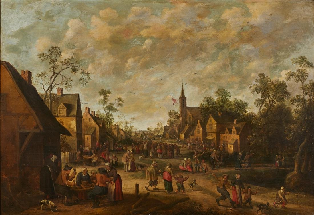 Joost Cornelisz Droochsloot 17C Dutch Oil Painting
