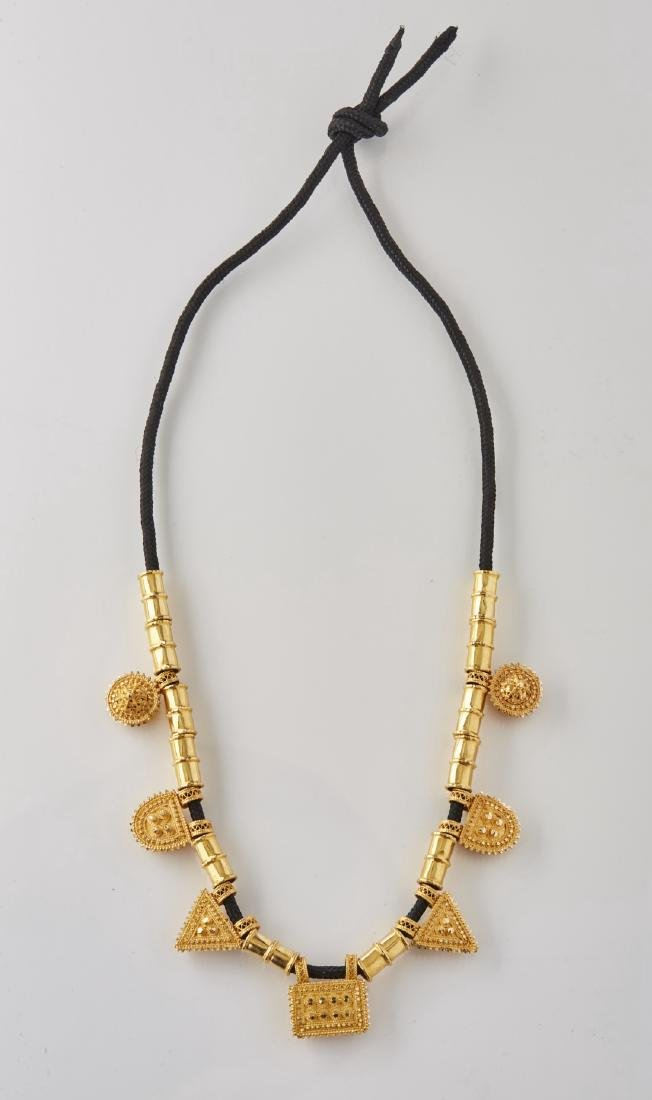 Moroccan 18K Gold Cord Necklace