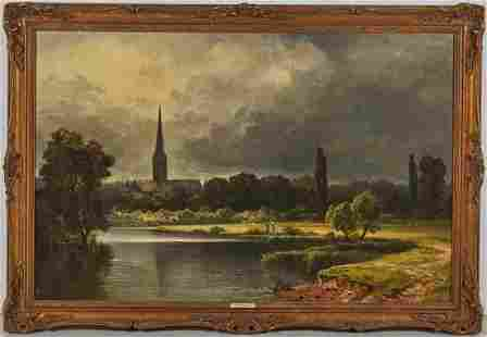 Arthur Bevan Collier British1832-1908 Oil Painting