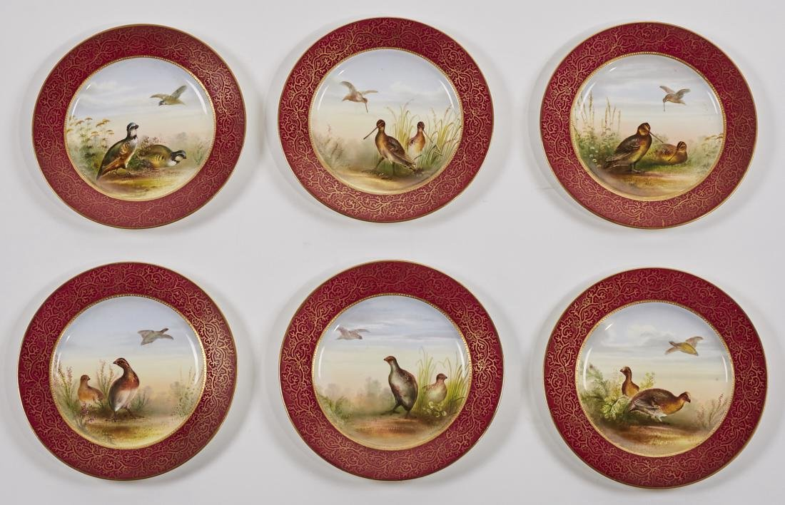 English 19C George Jones Porcelain Game Plates