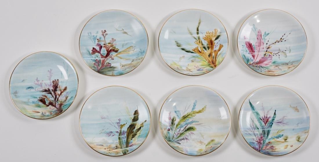 Royal Worcester 19C Aquatic Flora Sealife Plates