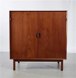 Peter Hvidt Double Door Danish Teak Cabinet