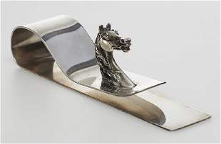 Signed Hermes Paris French Silver Horse Newspaper Clip